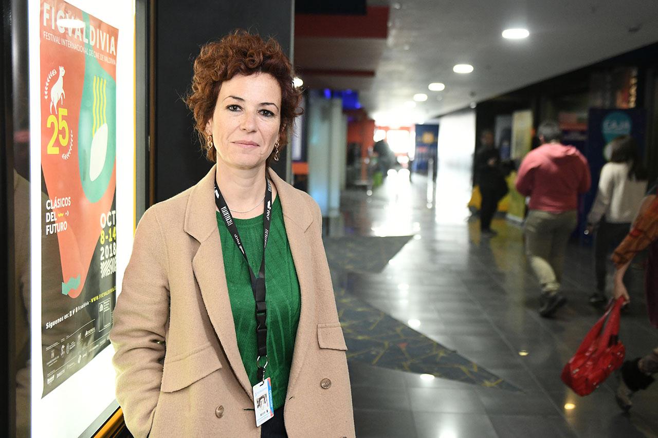 Concha Barquero, profesora del Departamento de Comunicación Audiovisual y Publicidad de la Universidad de Málaga y de la Diplomatura de Cine Documental de la Escuela de Cine de la Comunidad Autónoma de Madrid (ECAM)