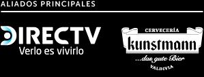 Aliados Principales: Cervecería Kunstmann, Directv, Chilevisión